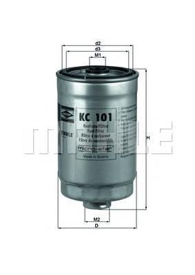 Фильтр топливный. Mahle (KC101)
