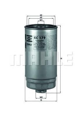 Фильтр топливный. Mahle (KC179)