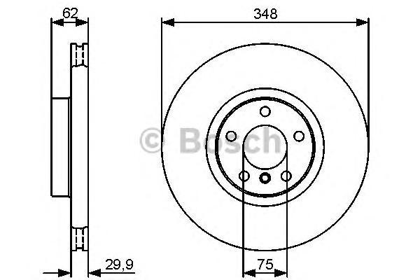 ТОРМОЗНОЙ ДИСК ПЕРЕДНИЙ. Bosch (0986479436)