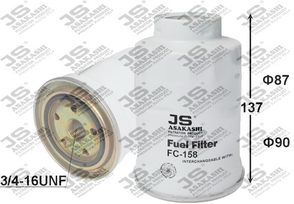 Фильтр топливный. JS Asakashi (FC158J)