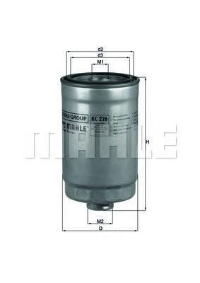Фильтр топливный. Mahle (KC226)