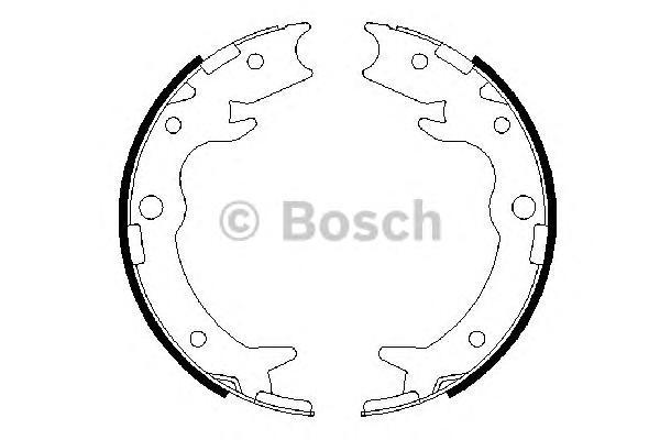 КОЛОДКА РУЧНОГО СТОЯНОЧНОГО ТОРМОЗА. Bosch (0986487686)