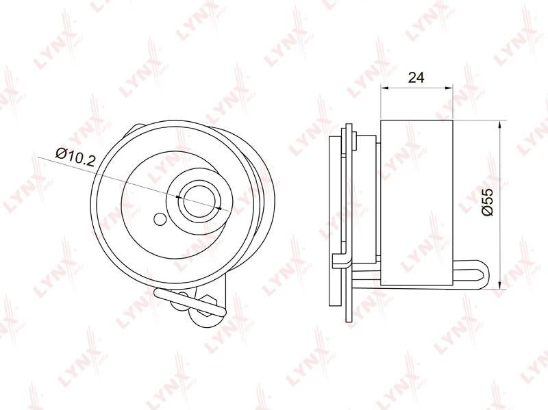 1019PB Ролик натяжной/ГРМ LYNX, шт. (PB-1019)