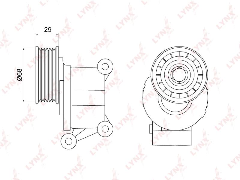 3012PT Натяжитель с роликом / приводной LYNX, шт. (PT-3012)