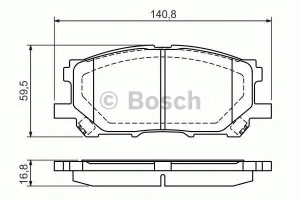 ТОРМОЗНЫЕ КОЛОДКИ ПЕРЕДНИЕ. Bosch (0986494218)