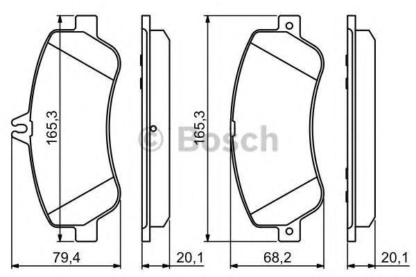 ТОРМОЗНЫЕ КОЛОДКИ ПЕРЕДНИЕ. Bosch (0986494302)