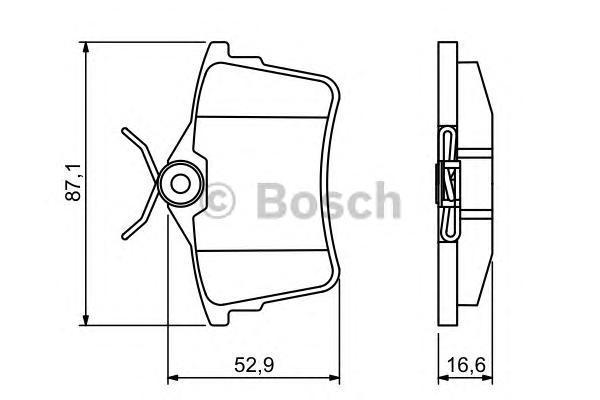 ДИСКОВЫЕ КОЛОДКИ. Bosch (0986494304)