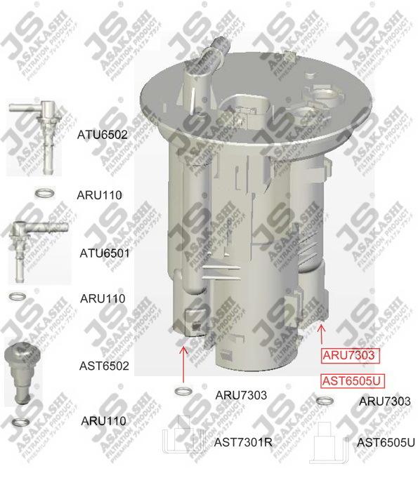 Фильтр топливный FS6505U. JS Asakashi