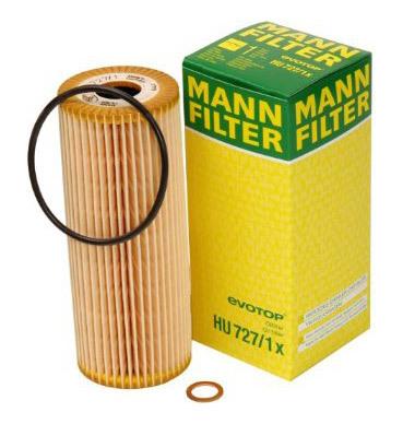 Фильтр масляный. Mann (HU727/1X)
