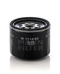 Фильтр масляный. Mann (W1114/80)