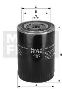 Фильтр масляный. Mann (W1145/80)