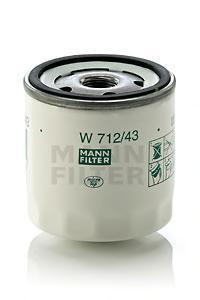 Фильтр масляный. Mann (W712/43)