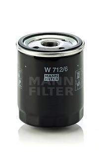 Фильтр масляный. Mann (W712/6)