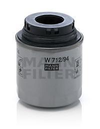 Фильтр масляный. Mann (W712/94)