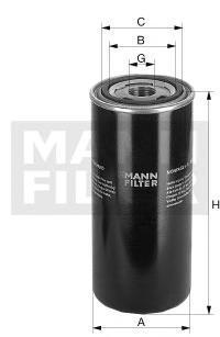 Фильтр гидросистемы. Mann (WD962)