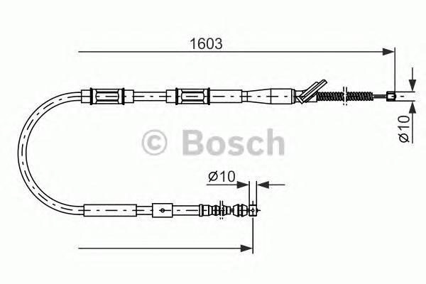 ТОРМОЗНОЙ ТРОС. Bosch (1987477409)