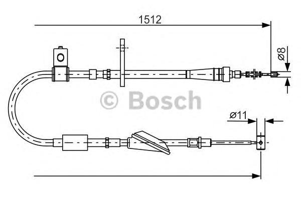 ТОРМОЗНОЙ ТРОС. Bosch (1987482176)