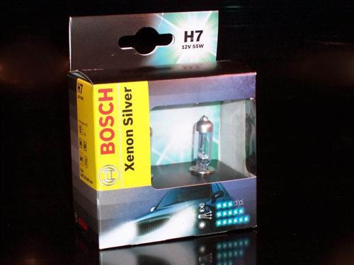 ЛАМПА H7 12V 55W Xenon Silver (коробка/2шт комплект). Bosch (1987301087)