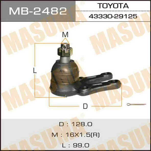Шаровая опора  Masuma  front low DYNA/ YH8#, HIACE/ LH5#, LH6# LH1## RH,LH. (MB-2482)