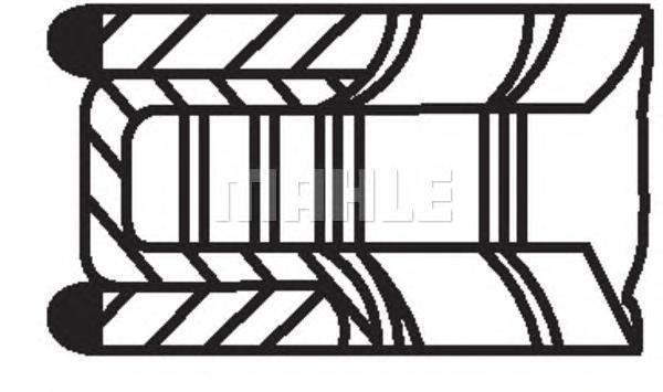 015 61 N0_кольца поршневые d87.5x1.2x1.2x2.5 STD (1) Ford Focus/Mondeo, Mazda 6 2.0 00>. Mahle (01561N0)