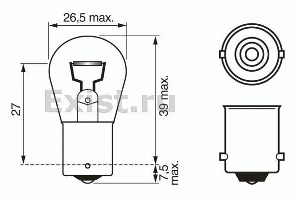 ЛАМПА 24V 18W TRUCKLIGHT (коробка/10шт) кр.10. Bosch (1987302523)