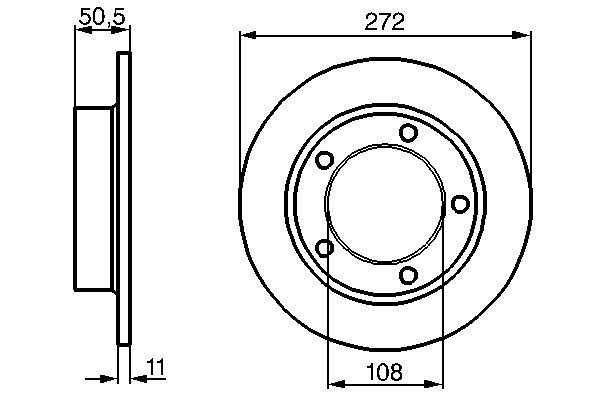 ТОРМОЗНОЙ ДИСК ПЕРЕДНИЙ Нива (дв.2121,21214,XUD9A) NEW. Bosch (0986478746)
