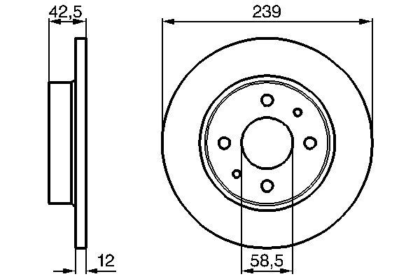 ТОРМОЗНОЙ ДИСК Лада 2108-21099. Bosch (0986478747)
