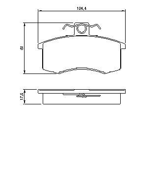 Комплект передних тормозных колодок Лада 2108 - 21099-2110,2111, Приора 21126, Калина 11194,21114. Bosch (0986491700)
