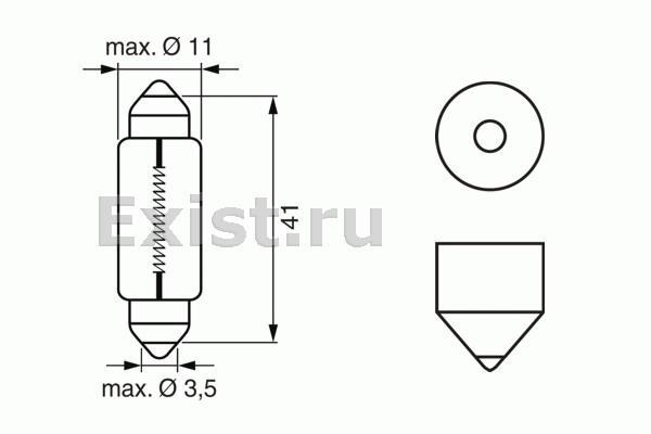 ЛАМПА 12V 5W PURE LIGHT (коробка/10шт) кр.10. Bosch (1987302225)
