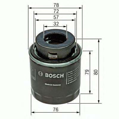 МАСЛЯНЫЙ ФИЛЬТР (замена F026407181). Bosch (F026407079)