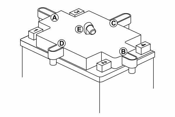 Аккумулятор BOSCH M 6 AGM technology - 12 volt (M6 018), 12 Ач 152x88x147. (0092M60180)