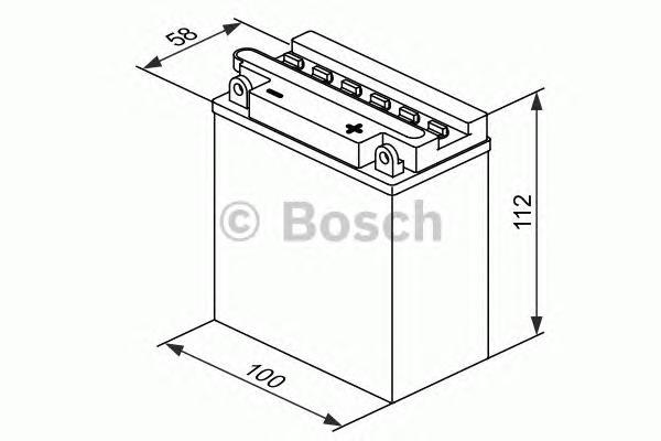 Аккумулятор BOSCH M 4 FreshPack - 12 volt (M4 F15), 3 Ач Y6 100x58x112. (0092M4F150)