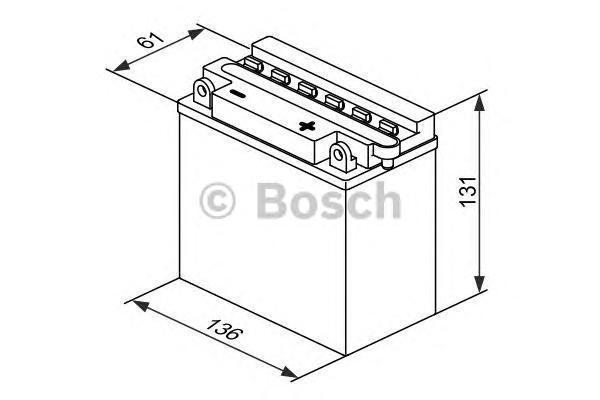 Аккумулятор BOSCH M 4 FreshPack - 12 volt (M4 F19), 6 Ач Y6 136x61x131. (0092M4F190)