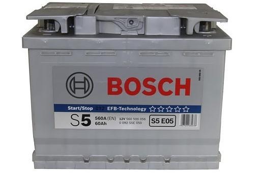 Аккумулятор BOSCH EFB (S5 E05), 60 Ач, 560 А, 242х175х190 мм. обр.. (0092S5E050)