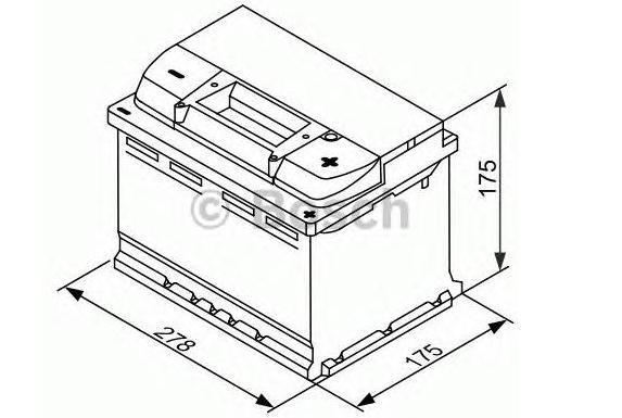Аккумулятор BOSCH EFB (S5 E07), 65 Ач, 650 А, 278х175х175 мм. обр. (0092S5E070)