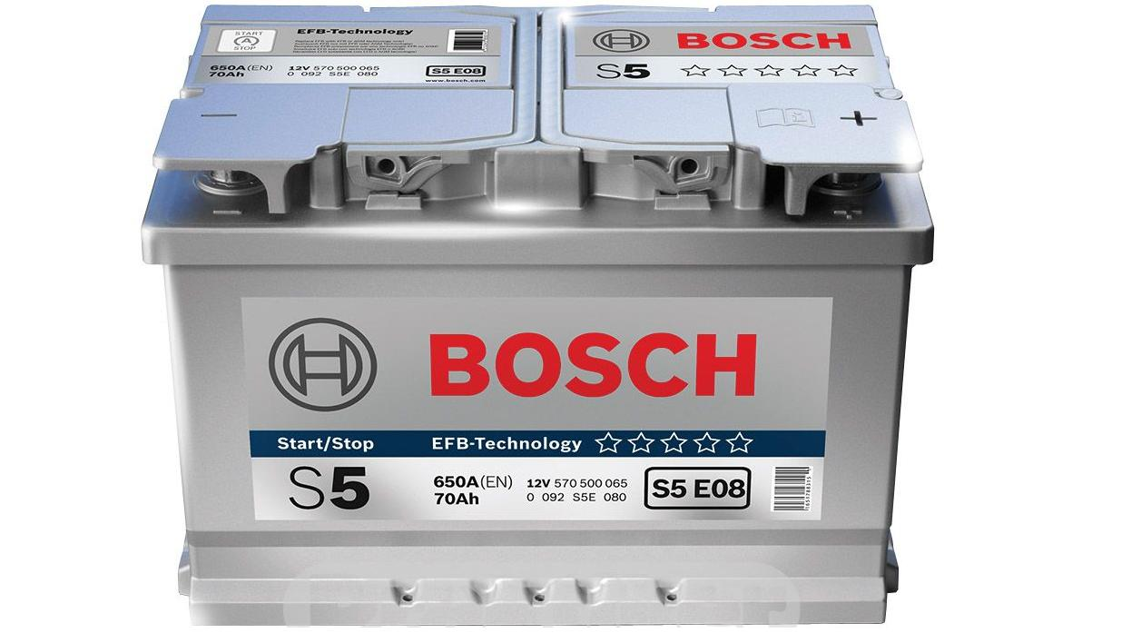 Аккумулятор BOSCH EFB (S5 E08), 70 Ач, 650 А, 278х175х190 мм.. (0092S5E080)