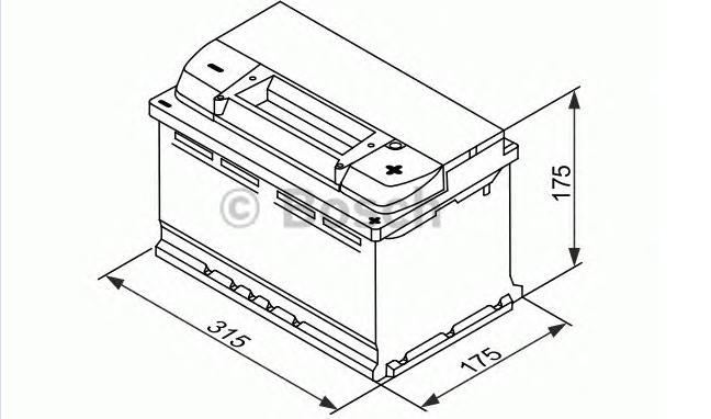 Аккумулятор BOSCH EFB (S5 E10), 75 Ач, 730 А, 315х175х175 мм. обр. (0092S5E100)