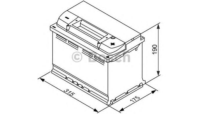 Аккумулятор BOSCH EFB (S5 E11), 80 Ач, 730 А, 315х175х190 мм. обр. (0092S5E110)