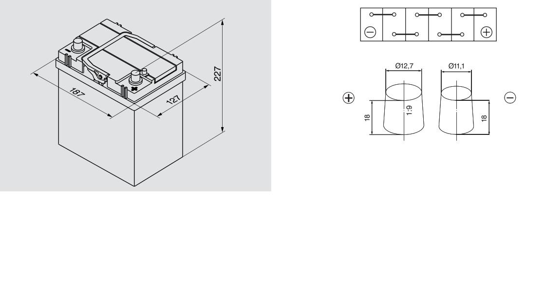 Аккумулятор BOSCH Silver S4 АЗИЯ (S4 018), 40 Ач, 330 А, 187x127x227 мм. обр тонк.клеммы. (0092S40180)