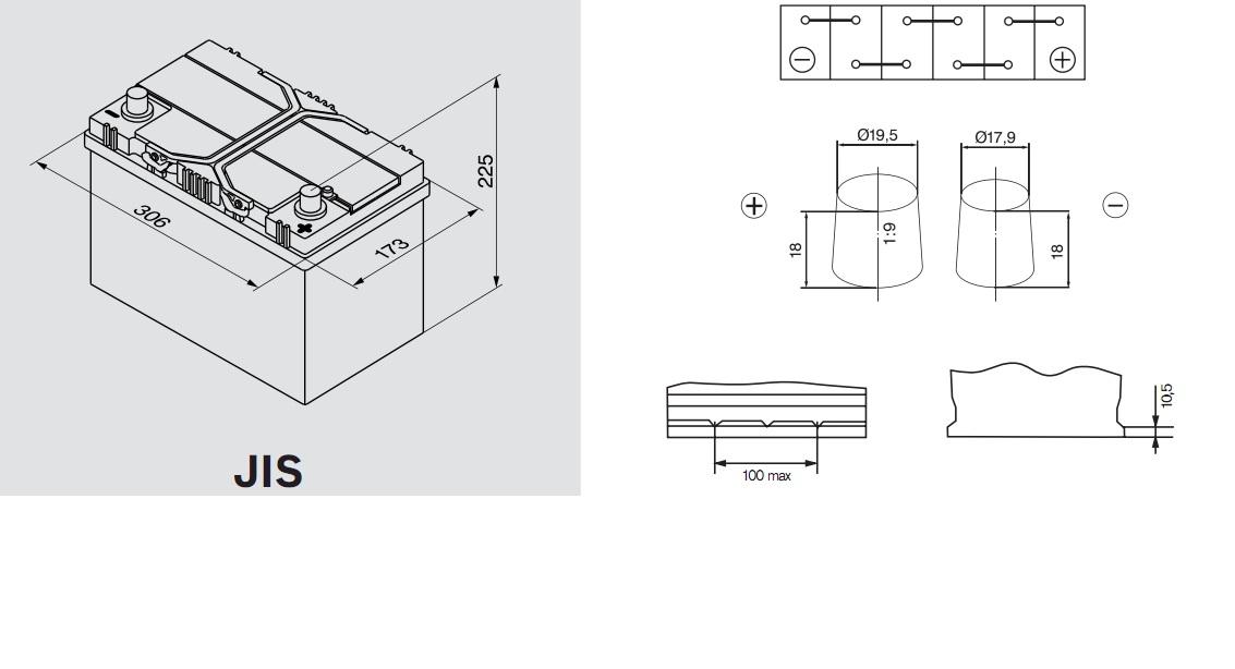 Аккумулятор BOSCH Silver S4 АЗИЯ (S4 028), 95 Ач, 830 А, 306x173x225 мм. обр. (0092S40280)