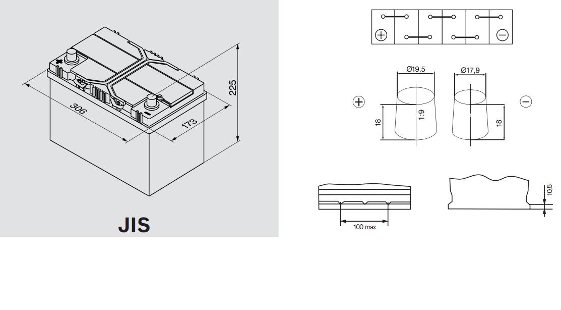 Аккумулятор BOSCH Silver S4 АЗИЯ (S4 029), 95 Ач, 830 А, 306x173x225 мм. прям. (0092S40290)