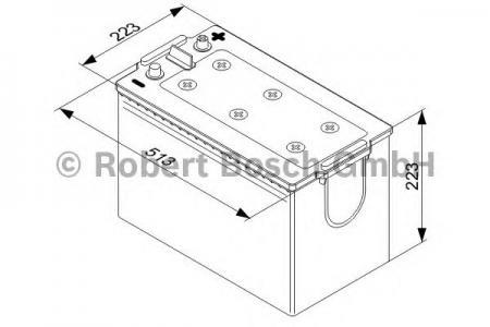Аккумулятор BOSCH T5 (T5 077), 180 Ач, 1000 А, 513x223x223 мм.прям. (0092T50770)
