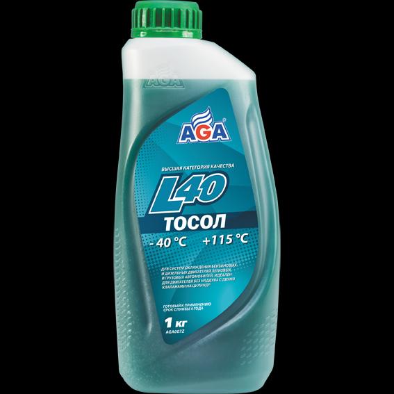 Тосол AGA-L40, готовый к применению, сине-зеленый, 946 мл TOSOL AGA-L40, PREMIX. (AGA007L)
