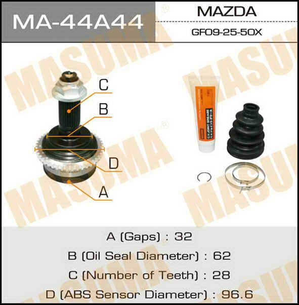 ШРУС  Masuma  32x62x28 (1/6). (MA-44A44)