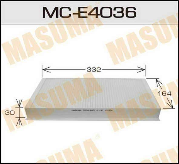 Воздушный фильтр Салонный АС-  Masuma  (1/40) OPEL/ CORSA/ V1300, V1600, V1800 00-06. (MC-E4036)
