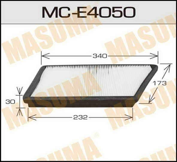 Воздушный фильтр Салонный АС-  Masuma  (1/40) PEUGEOT/ 206, 206+/ V1600, V1900, V2000 98-. (MC-E4050)