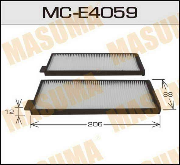 Воздушный фильтр Салонный АС-  Masuma  (1/40) SSANG YONG/ MUSSO / V2000, V2300, V2900 93-05. (MC-E4059)