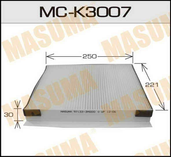 Воздушный фильтр Салонный АС-  Masuma  (1/40) HYUNDAI/ GENESIS/ V3800 08.06-. (MC-K3007)