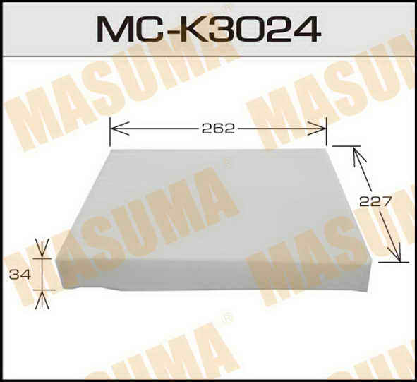 Воздушный фильтр Салонный АС-  Masuma  (1/40) KIA/ HYUNDAI/ V2000, V2700 07-. (MC-K3024)