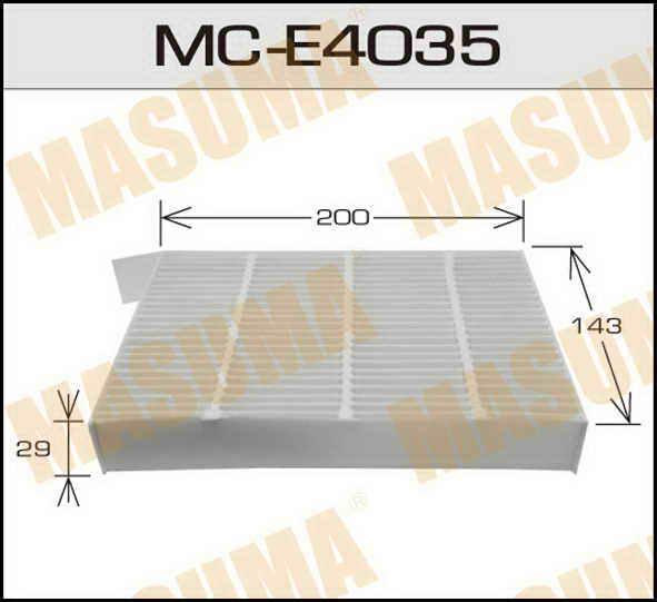 Воздушный фильтр Салонный АС-  Masuma  (1/40) OPEL/ AGILA/ V1200, V1300 08-. (MC-E4035)